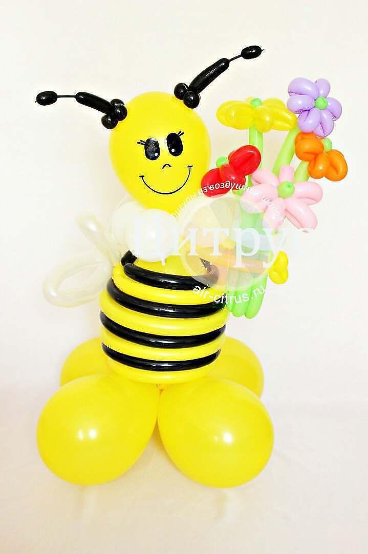 Как сделать из шариков пчелку фото 831